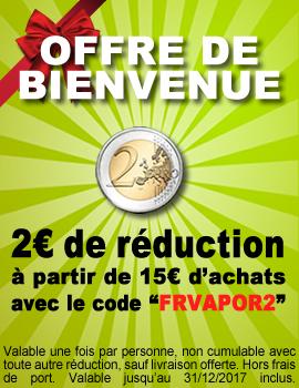 Code réduction eliquide 2€ offre de bienvenue