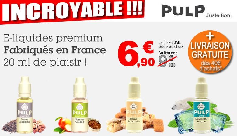 e-liquide PULP en promotion à 6,90€ seulement